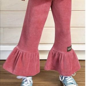 Matilda Jane Big Girl Pink Big Ruffles Pants NWT